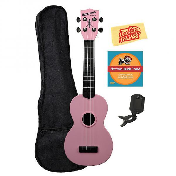Custom Kala KA-SWB-PK Waterman Soprano Ukulele - Soft Pink Matte w/ Gig Bag #1 image