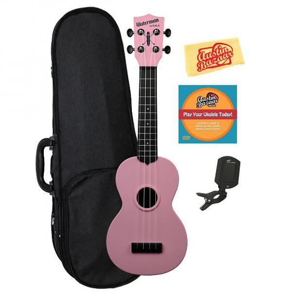 Custom Kala KA-SWB-PK Waterman Soprano Ukulele - Soft Pink Matte w/ Hard Case #1 image