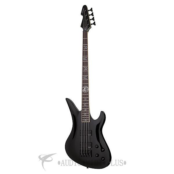 Custom Schecter Dale Stewart Rosewood Fretboard Electric Bass Gloss Black - 217 - 81544702018 #1 image