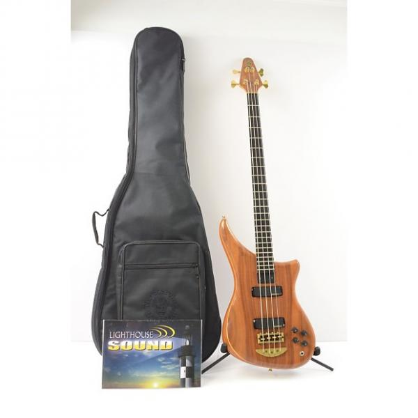 Custom 1998 Alembic Epic 4-String Bass Guitar w/ Gig Bag - Walnut #1 image
