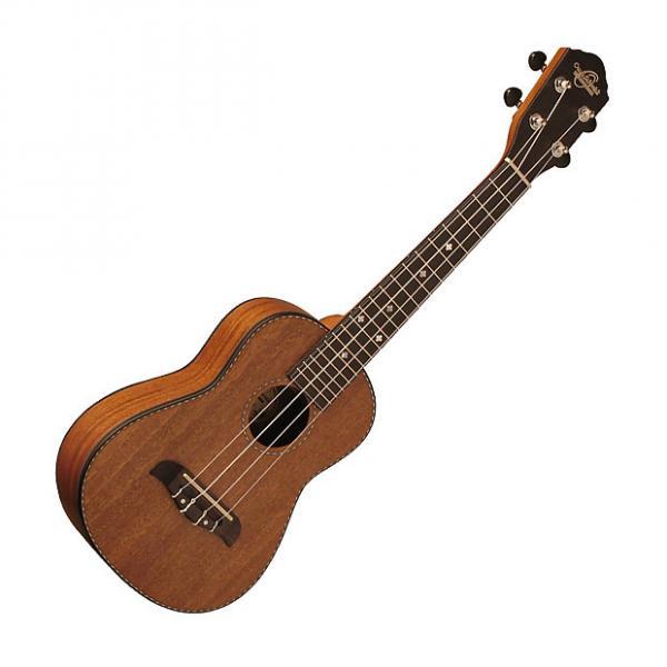 Custom Oscar Schmidt OU220SWK Satin Concert Ukulele w/case in Solid Mahogany #1 image