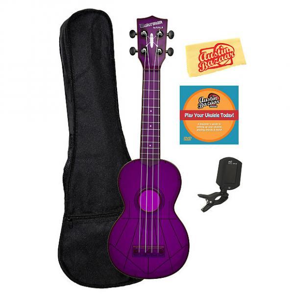 Custom Kala KA-SWF-PL Waterman Soprano Ukulele - Fluorescent Purple Gloss w/ Gig Bag #1 image