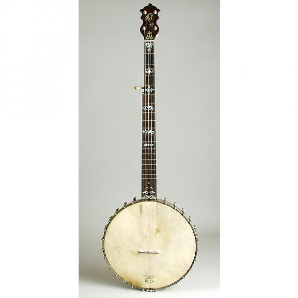 Custom Luscomb  composite with Jim DeCava Neck 5 String Banjo,  c. 1895, NO CASE case. #1 image