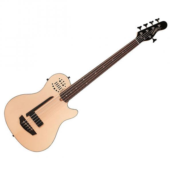 Custom Godin 33621 A5 Ultra Semi-Acoustic Bass Natural SG RN (Open Box) #1 image