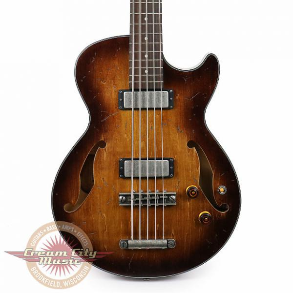 Custom Brand New Ibanez AGBV205ATCL Artcore 5-String Bass Tobacco Burst Low Gloss #1 image