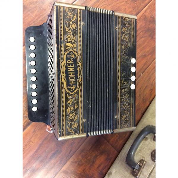 Custom Vienna Stlye Hohner Button Box Steel Reeds tuned like harmonica in key of C #1 image