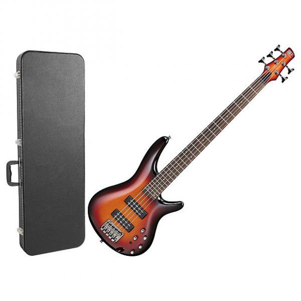 Custom Ibanez SR375E AWB 5-String Electric Bass Guitar Bundle #1 image
