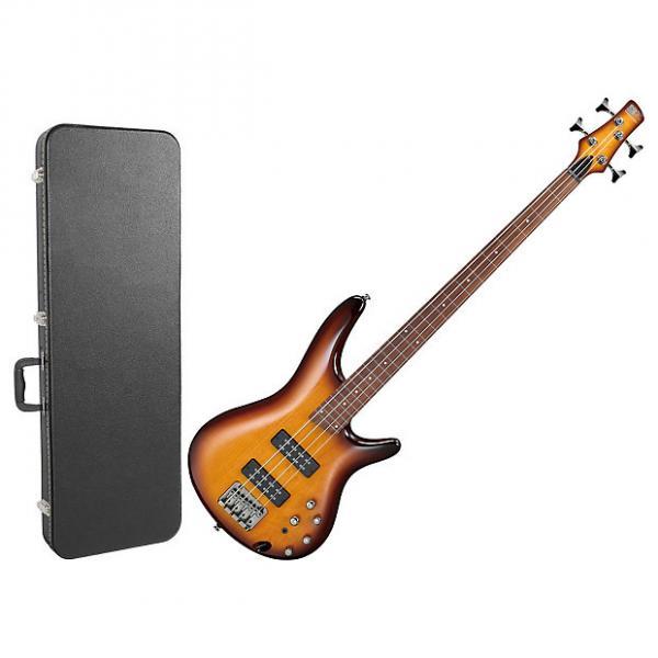 Custom Ibanez SR370EFBBT 4-String Fretless Bass Guitar Bundle #1 image
