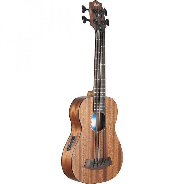 Custom Kala All Solid Mahogany Fretless A/E U-Bass Ukulele w/ Case, UBASS-SMHG-FLWCASE #1 image