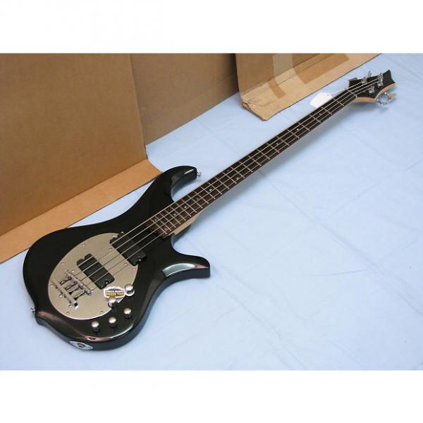 Custom TRABEN Neo 4-string BASS guitar NEW Gloss Black - Active Preamp - Basswood Body #1 image