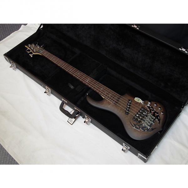 Custom TRABEN Array Attack 5-string BASS guitar Black Burl w/ CASE - Rockfield Pickups #1 image