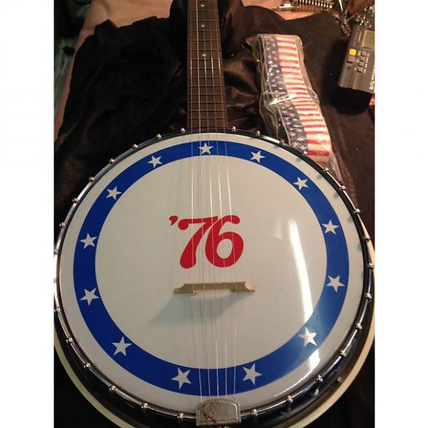 Custom Harmony bicentennial bicentennial banjo 1976 red white blue #1 image