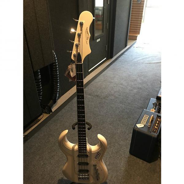 Custom Burns Bison Bass - White #1 image