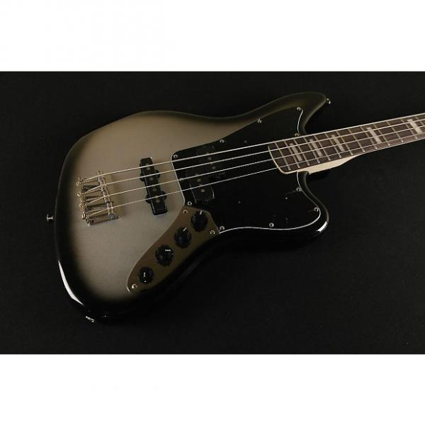 Custom Squier by Fender Troy Sanders Jaguar Bass- Silver Burst 8197 #1 image