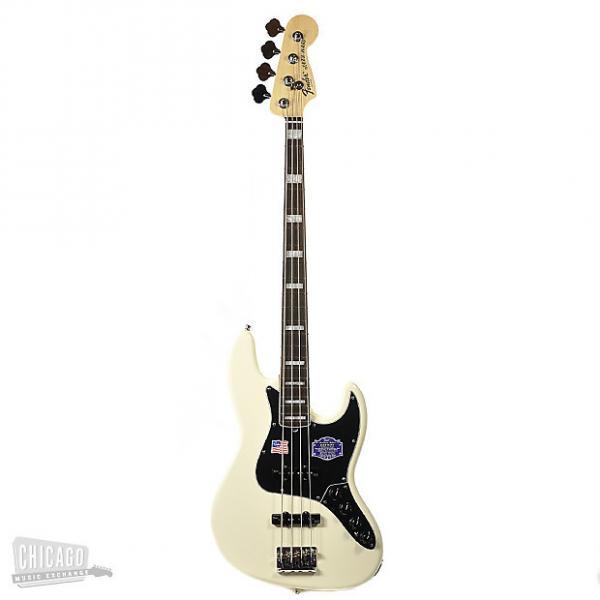 Custom Fender American Elite Jazz Bass - Olympic White, 0197000705 #1 image