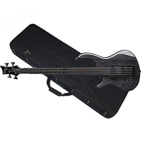 Custom DEAN Edge 4 LEFTY 4-string BASS guitar NEW Trans Black w/ CASE - LEFT-HANDED #1 image