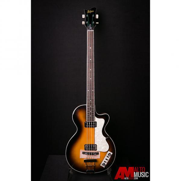 Custom Hofner Contemporary Singlecut Club Bass - Sunburst w/ Case #1 image