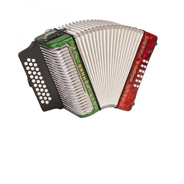 Custom Hohner Corona II Accordion - Mexican Flag (FBE) #1 image