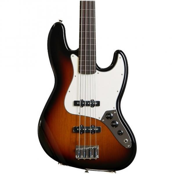 Custom Fender Standard Jazz Bass, Fretless - Brown Sunburst #1 image