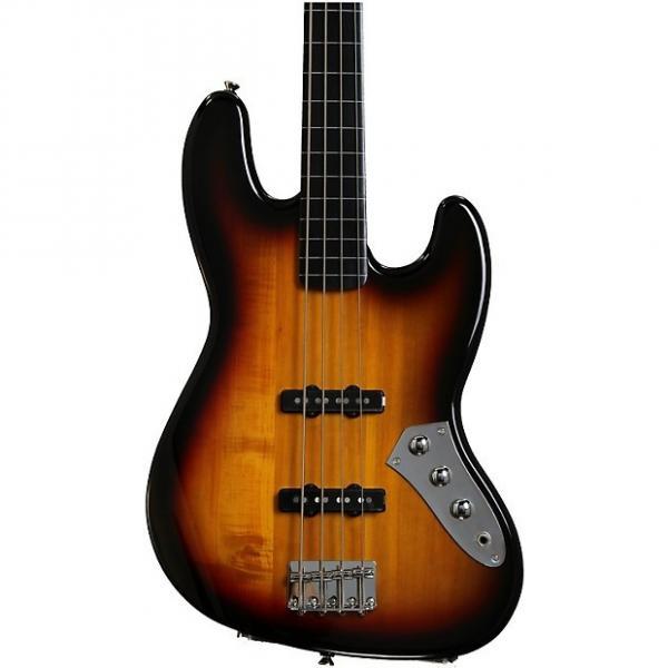Custom Squier Vintage Modified Jazz Bass - 3-Color Sunburst, Fretless #1 image
