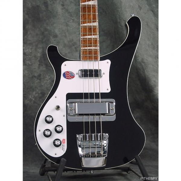 Custom NEW LEFT HANDED RICKENBACKER 4003 JETGLO 4 STRING BASS & CASE BLACK RIC JG #1 image
