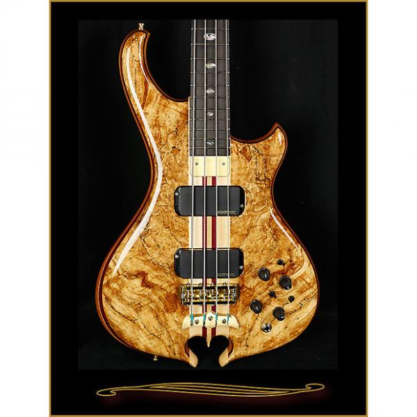 Custom Alembic Mark King Deluxe Natural in Spalt Maple with Side LEDs #1 image