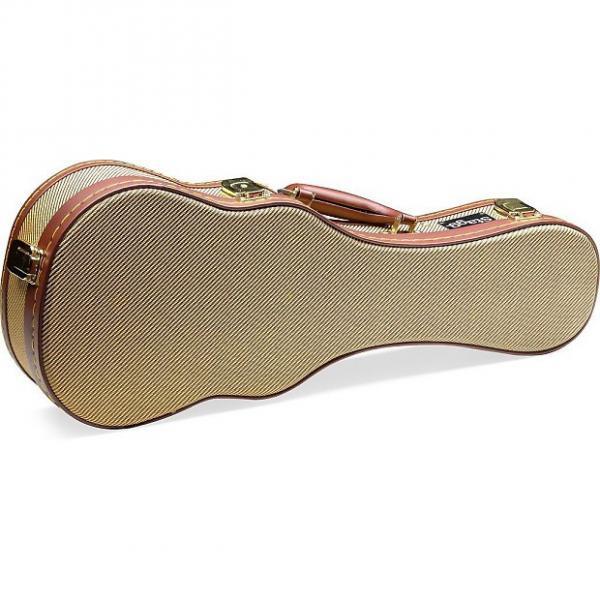 Custom Stagg GCX-UKT GD Gold Tweed Plush Lined Tenor Ukulele Hardshell Case #1 image