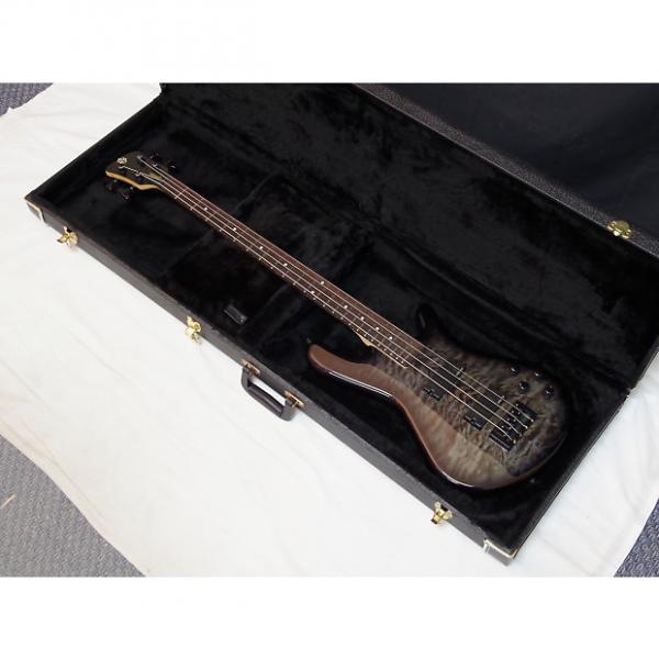 Custom SPECTOR Legend 4 Classic 4-string BASS guitar trans Black #1 image