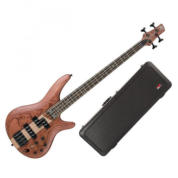 Custom Ibanez SR750 4-String Bass Guitar - Natural Flat + Case #1 image