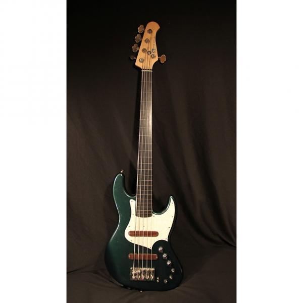 Custom Xotic Guitars Xotic XJ-1T Fretless Bass – 5 String 2011 Cadillac Green #1 image