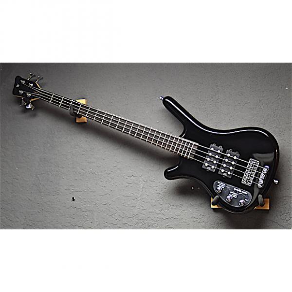 Custom Warwick Left Handed RB Corvette $$ 4 String Lefty Bass 2015 Black Polish #1 image