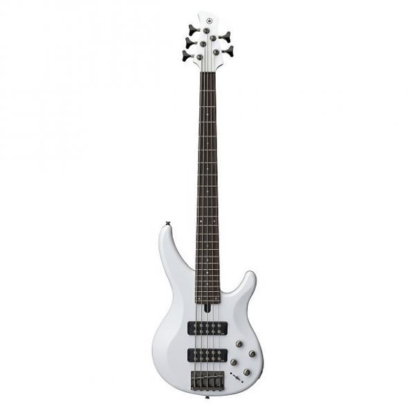 Custom Yamaha TRBX305 White Bass Guitar - 5 String #1 image
