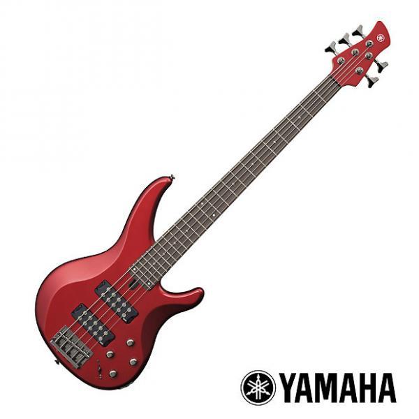 Custom Yamaha TRBX305 5 String Bass - Candy Apple Red #1 image