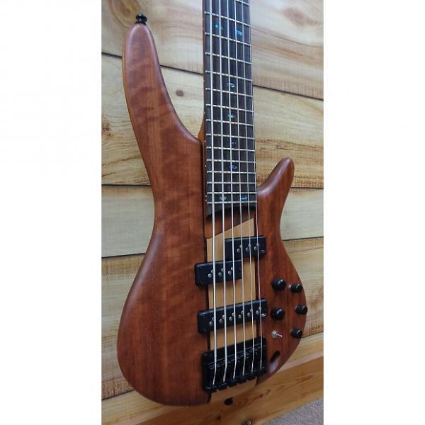 Custom New Ibanez SR756 6 String Electric Bass Bubinga and Maple Natural Flat #1 image