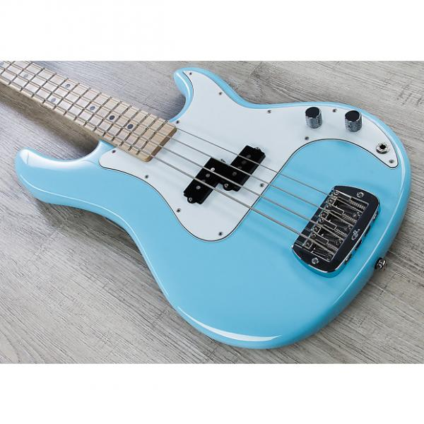 Custom G&L USA LB-100 Electric Bass with Case - Himalayan Blue Finish #1 image