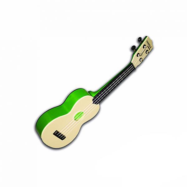 Custom Kala Makala Waterman Ukulele - Translucent Green with Gig Bag #1 image