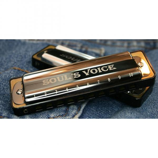 Custom Soul's Voice Diatonic Harmonica with  Gunmetal covers. Key of A #1 image