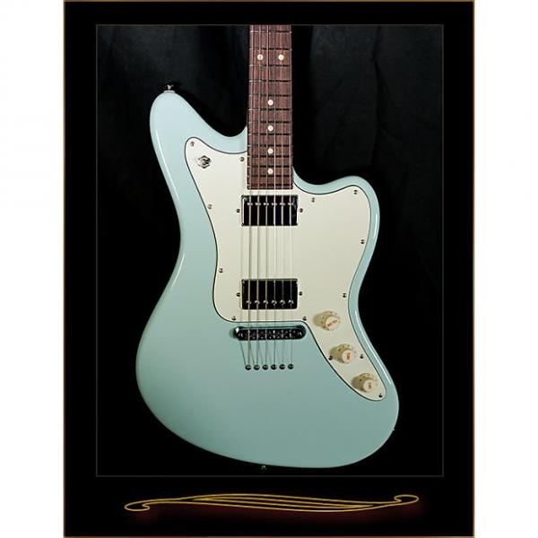 Custom Suhr Classic JM Pro with 2 Humbuckers and Stoptail Bridge in Sonic Blue #1 image