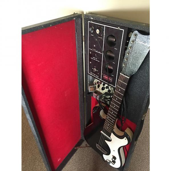 Custom Silvertone 1448 With Case Amp 1960s Black Sparkle- All Original Working #1 image