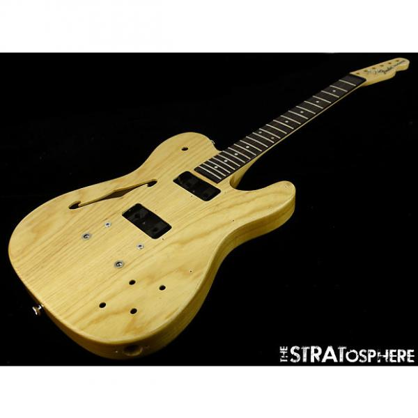 Custom Fender JA-90 Jim Adkins Thinline Tele BODY & NECK Telecaster Guitar Natural Ash #1 image