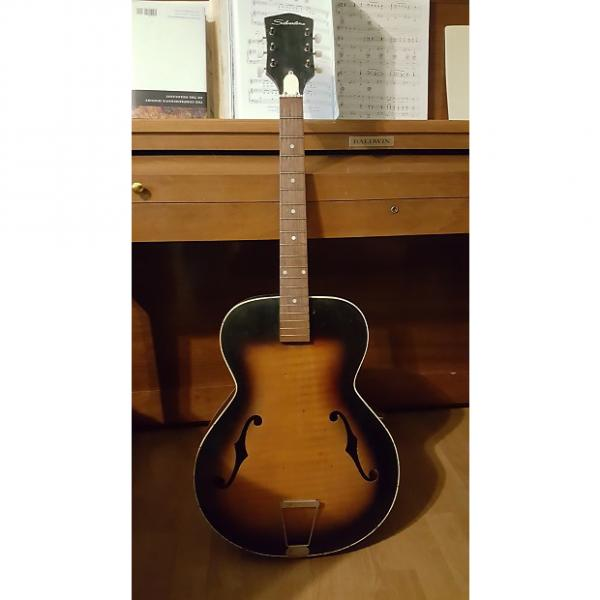 Custom martin acoustic guitar Rare martin acoustic guitar strings Silvertone dreadnought acoustic guitar Kay martin guitars bolt guitar strings martin on neck acoustic f-hole archtop guitar 1959-1961 Made in USA Project #1 image