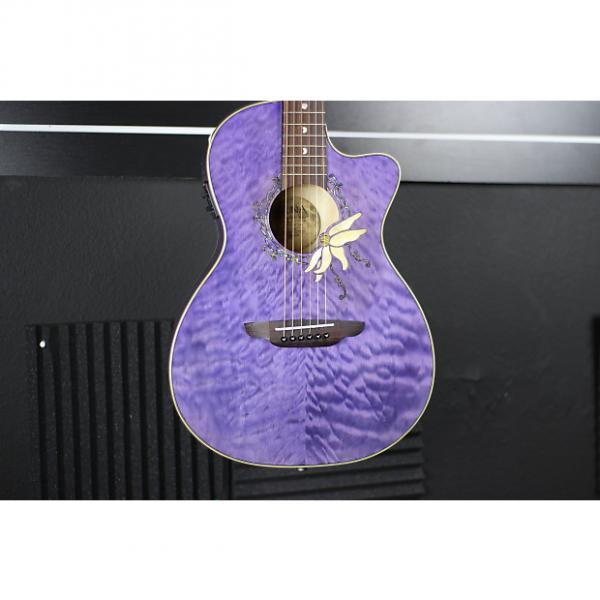 Custom martin d45 Luna martin acoustic strings Flora martin acoustic guitars Passion martin Flower dreadnought acoustic guitar 2017 Purple #1 image