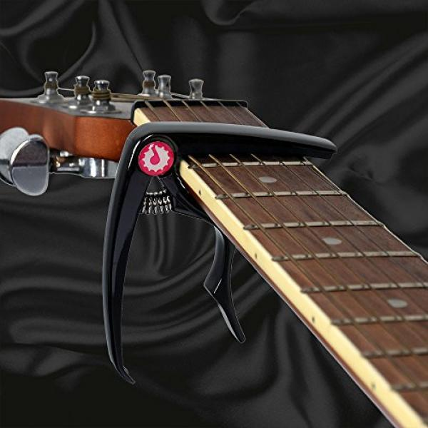 JRZOUR Guitar Package19 in 1(Tuner/Strap/Capo/Pin/Pick)for Tune Acoustic , Electric Guitar, Bass, Ukulele and Violin, Accurate, Fast, Turn 360 Degrees, Chromatic, Electronic #4 image
