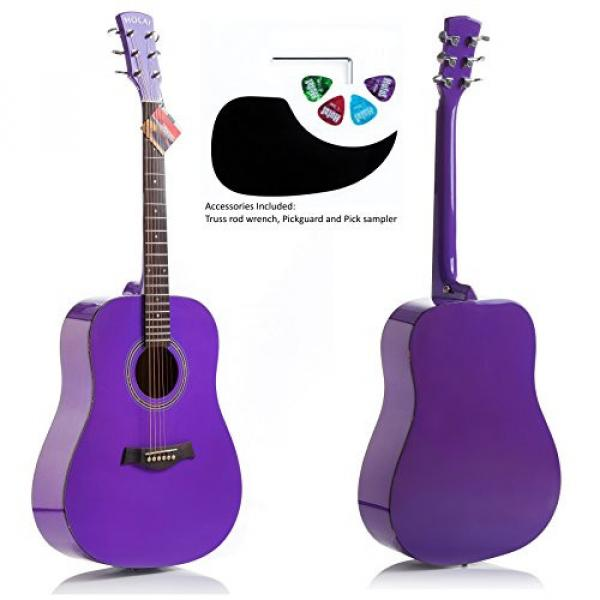 """Hola! martin acoustic strings HG-41PP martin guitar case (41"""" guitar strings martin Full martin d45 Size) martin guitar accessories Deluxe Dreadnought Acoustic Guitar, Purple #1 image"""