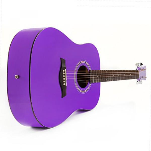 """Hola! martin acoustic strings HG-41PP martin guitar case (41"""" guitar strings martin Full martin d45 Size) martin guitar accessories Deluxe Dreadnought Acoustic Guitar, Purple #3 image"""