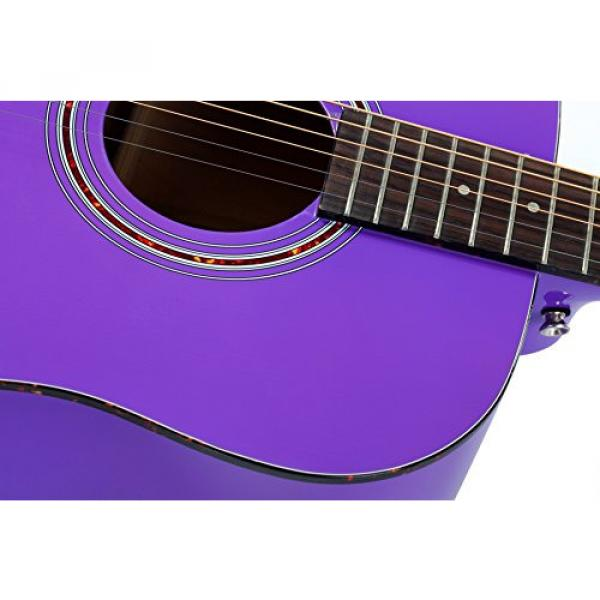 """Hola! martin acoustic strings HG-41PP martin guitar case (41"""" guitar strings martin Full martin d45 Size) martin guitar accessories Deluxe Dreadnought Acoustic Guitar, Purple #4 image"""