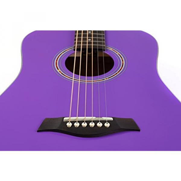 """Hola! martin acoustic strings HG-41PP martin guitar case (41"""" guitar strings martin Full martin d45 Size) martin guitar accessories Deluxe Dreadnought Acoustic Guitar, Purple #5 image"""
