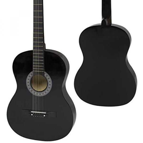 """38"""" Black Acoustic Guitar Starter Package (Guitar, Gig Bag, Strap, Pick) #2 image"""