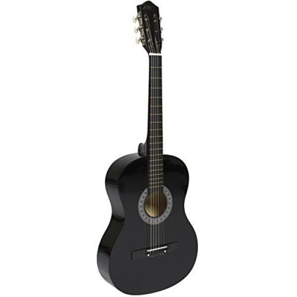 """38"""" Black Acoustic Guitar Starter Package (Guitar, Gig Bag, Strap, Pick) #3 image"""