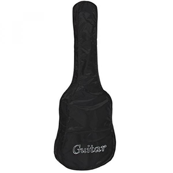 """38"""" Black Acoustic Guitar Starter Package (Guitar, Gig Bag, Strap, Pick) #4 image"""